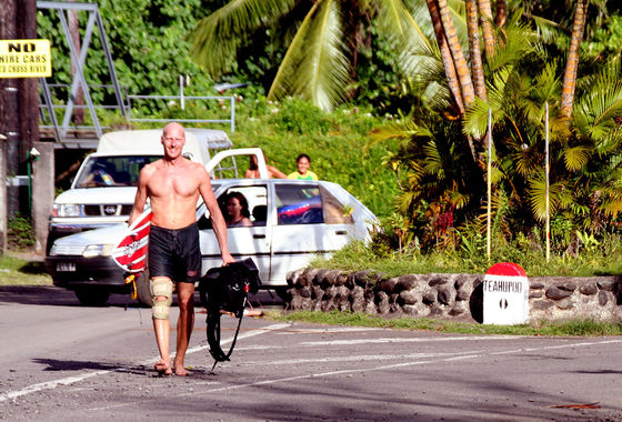 Udo Hölker, editor of the Kite and Windsurfing Guides, Tahiti