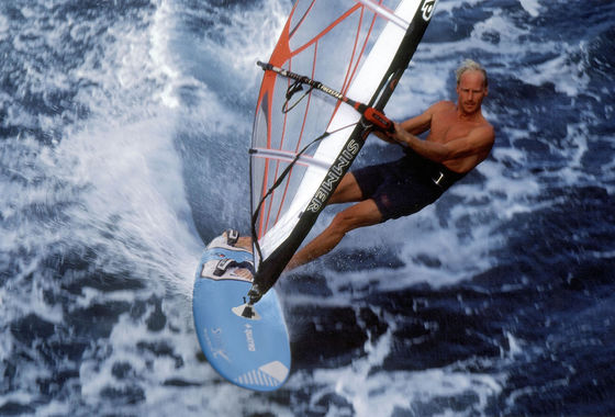 Udo Hölker, editor of the Kite and Windsurfing Guides, Big Wave Windsurfing, Maui Hawaii
